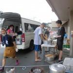 NPO法人BOND&JUSTICE、熊本復興支援団体LOVE&RESPECTの皆さんが炊き出しに来られました