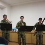 陸上自衛隊第8音楽隊の方々が演奏会に来られました