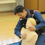 心肺蘇生法とAED使用方法の研修を行いました
